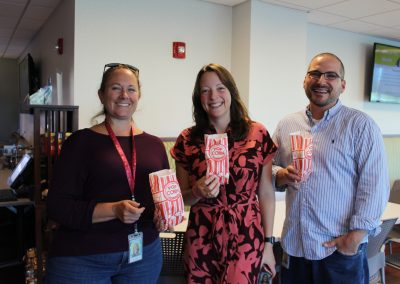 Enjoying some popcorn as we celebrate our Top Workplaces win