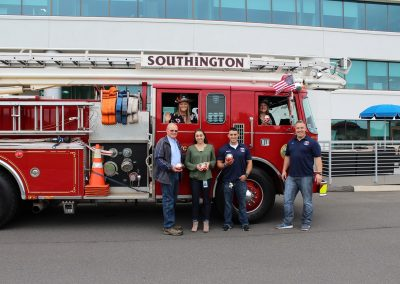 Members of our HR Team pose with the Southington Fire Department
