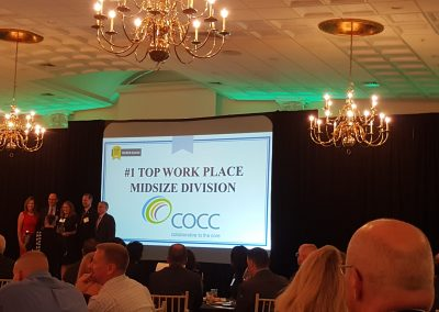 COCC recognized as #1 Top Workplace in medium division by the Hartford Courant