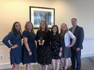 HR Total Rewards team receives the Cigna Well-Being Award
